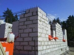 кладка газосиликатных блоков в Бресте