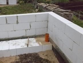 кладка пенобетонных блоков в Могилеве